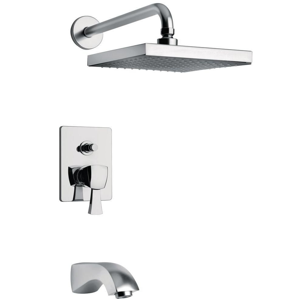 LaToscana Lady Pressure Balance 1-Spray Tub and Shower Faucet in ...