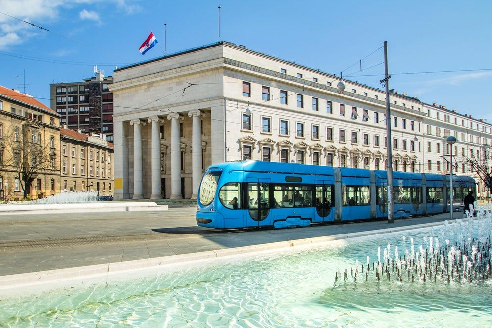 Zagreb Public Transport Follow The Blue Vehicle Zagreb City Of Zagreb Public Transport