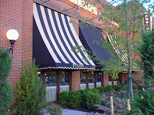Maggiano S Concave Awning Installation Awning Concave