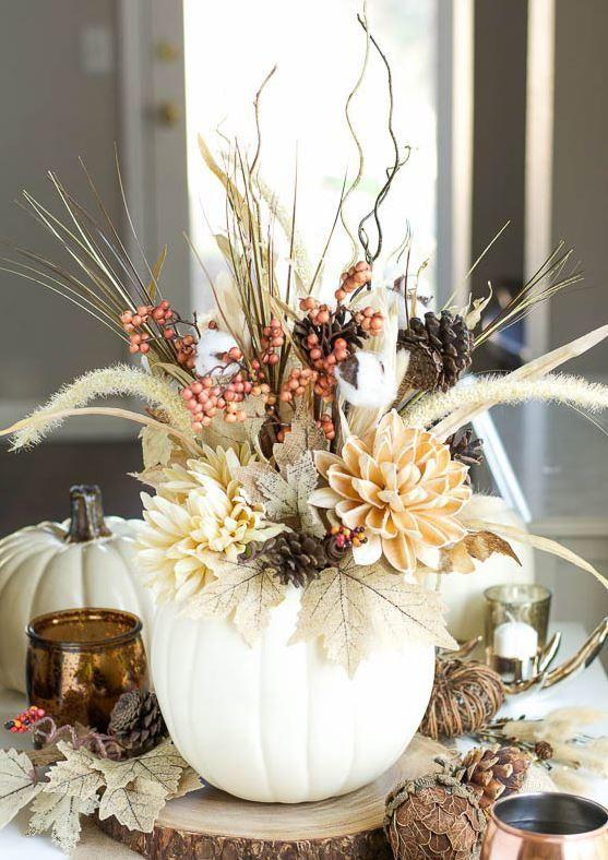 Gorgeous Pumpkin Vase Pumpkins, Pumpkin vase and Vase