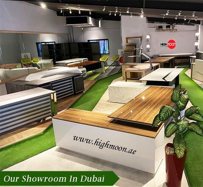 We have a huge showroom and visit us to have a glance of collections. We have a variety of designs and 30 varieties of colors in Office Desk, Executive Desk and so on. For more WhatsApp Us +971559477776 or Email us info@highmoon.ae    #Highmoon #OfficeFurniture #Showroom #furnitureshowroom #Furniture #OfficeDesk #ReceptionDesk #Table #Chairs #Sofa #Flooring #Amazing #Design #Collections #New #Style #Sale #Offers #Dubai #UAE