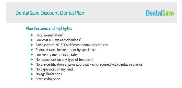 Dentalsave Discount Dental Plan Dental Plans Dental Discount