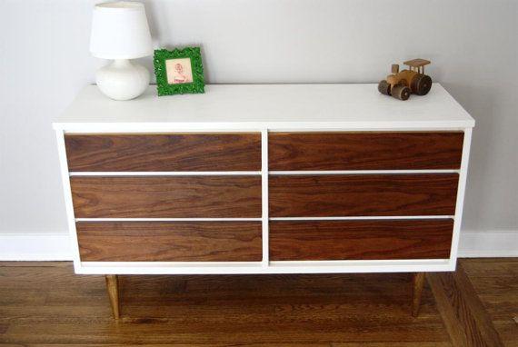 SOLD - Refinished Mid Century Dresser by Bassett