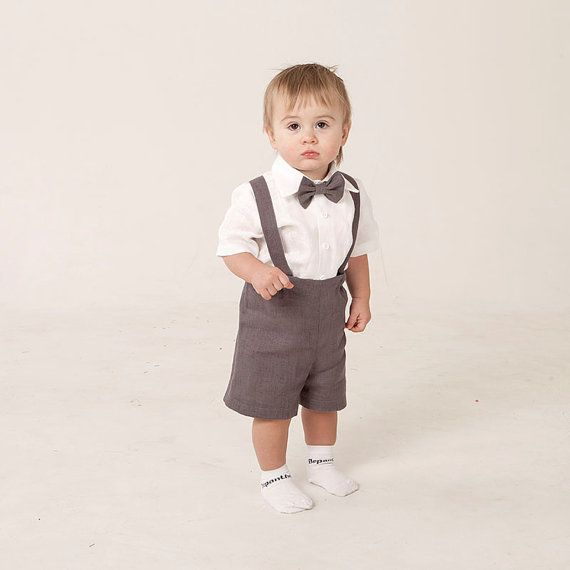 Boy ring bearer outfit baby boy linen clothes first by Graccia ...