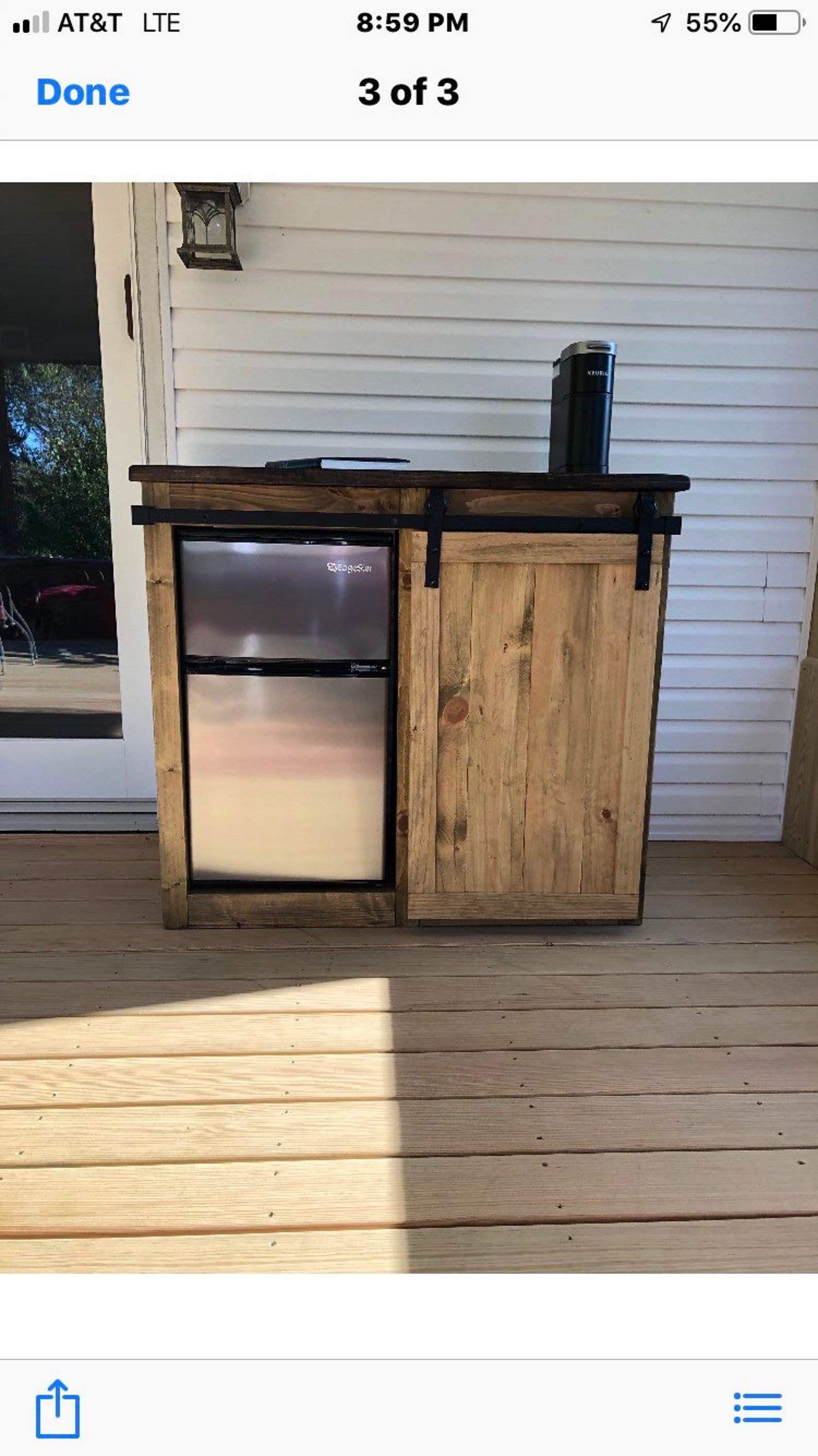 Rustic Modern Style Mini Size Fridge Farmhouse Style With A Etsy In 2020 Mini Fridge Bar Diy Outdoor Bar Diy Outdoor Kitchen