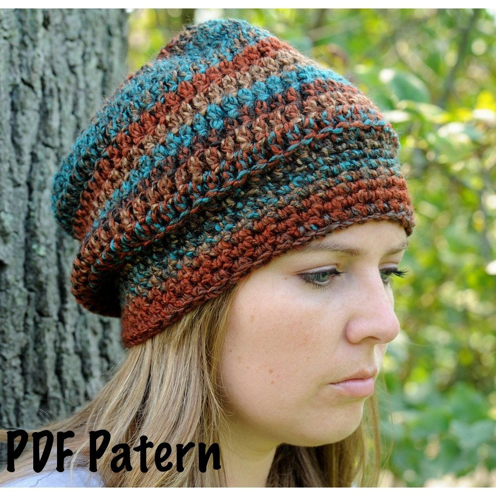 Free+Crochet+Slouchy+Hat+Patterns+For+Women+cakepins.com | Caps And ...