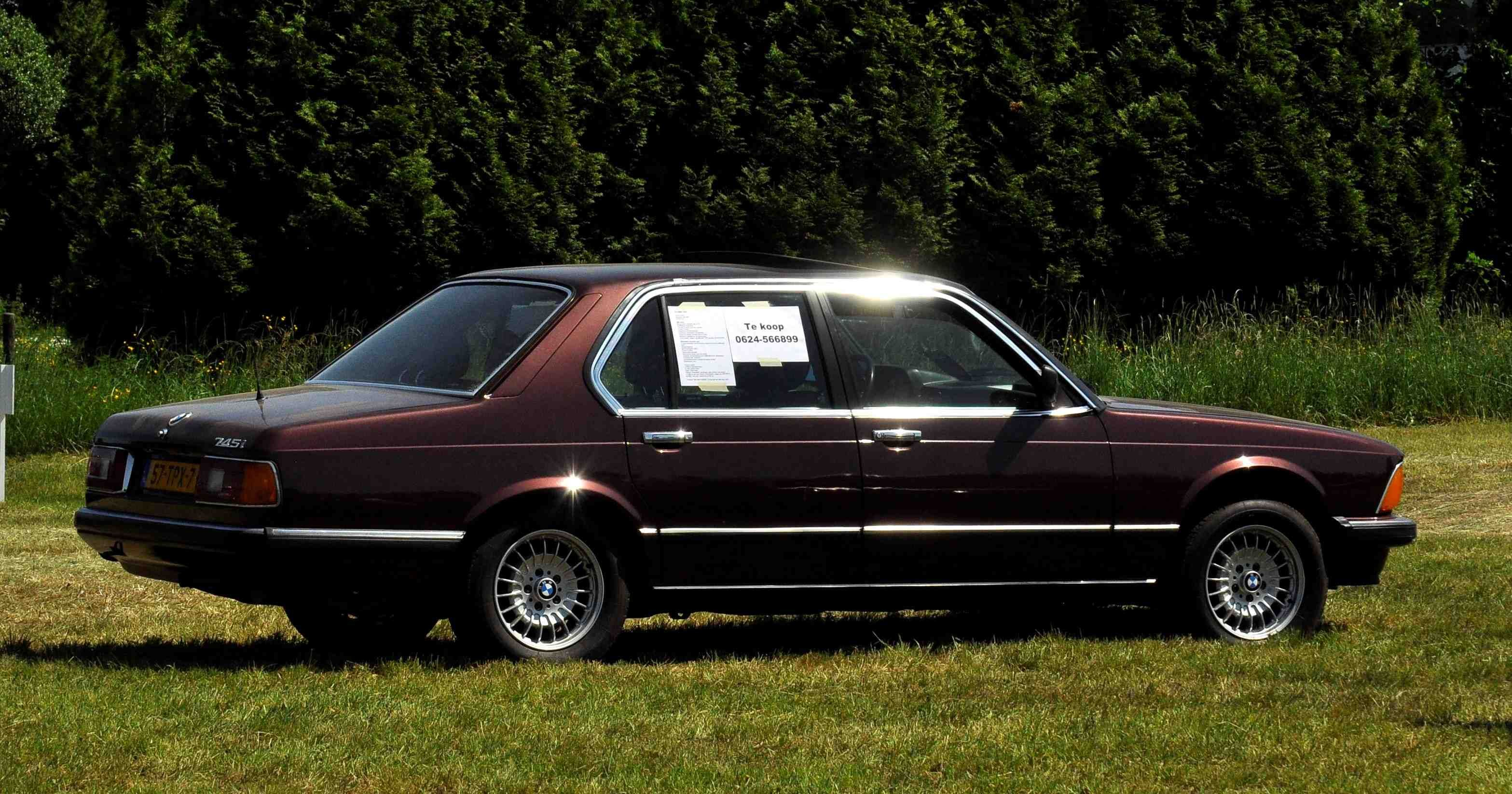 E23 BMW 745i in Burgundy Red. This is mine and it's for