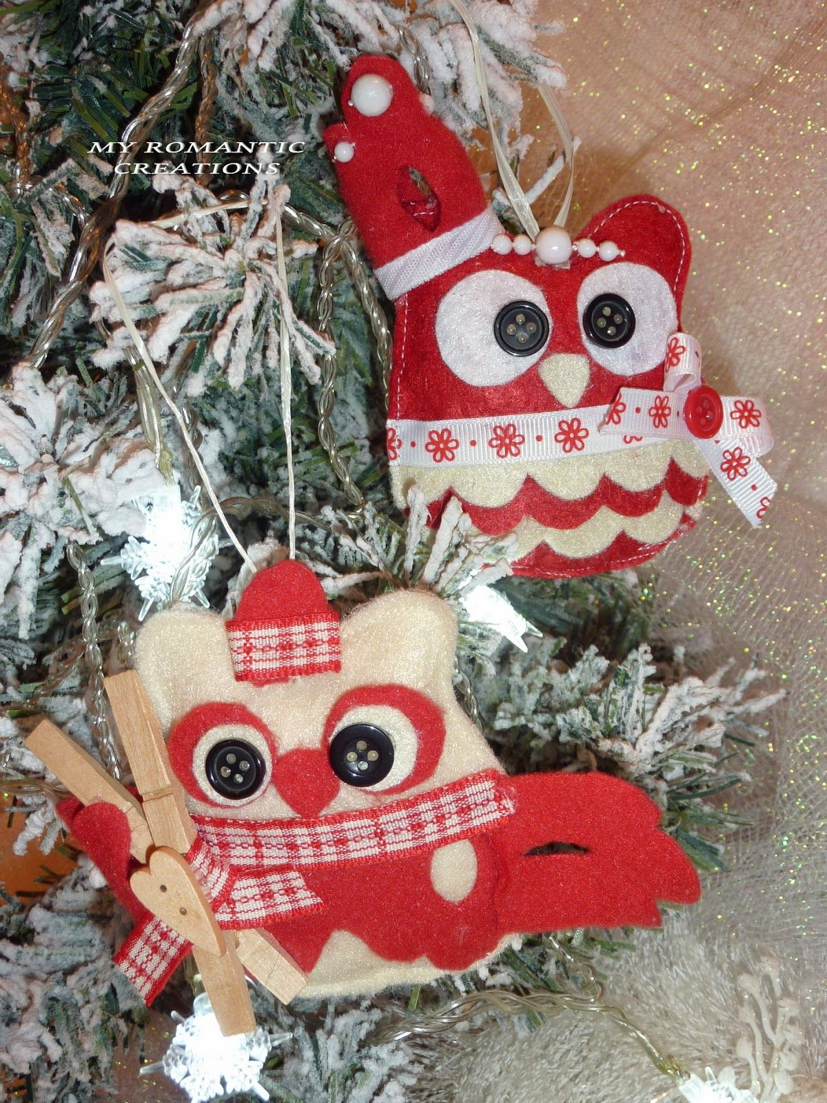 My Romantic Creations: Owls for Christmas.