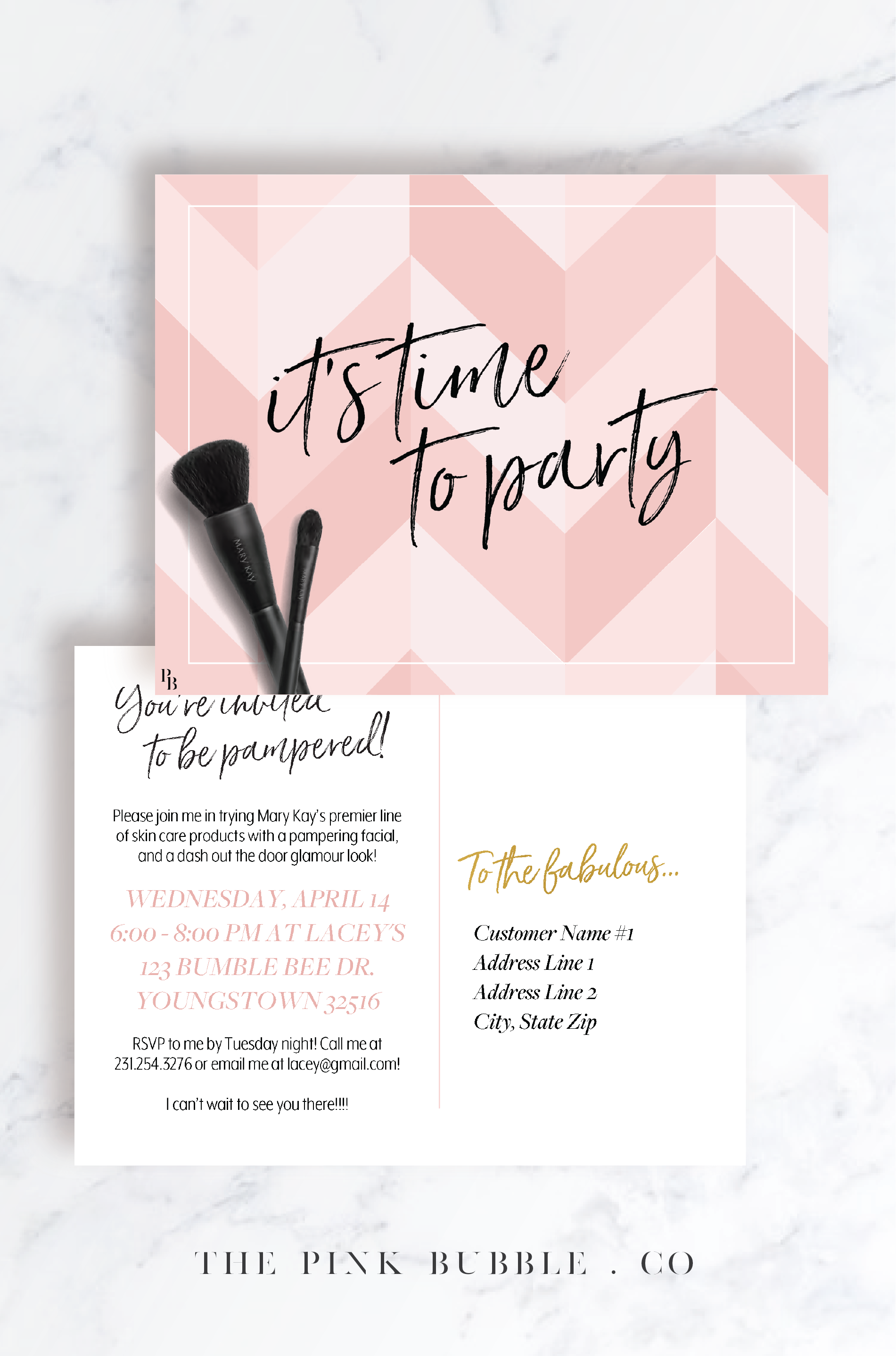 Customizable Party Invitation Printable // www.thepinkbubble.co ...