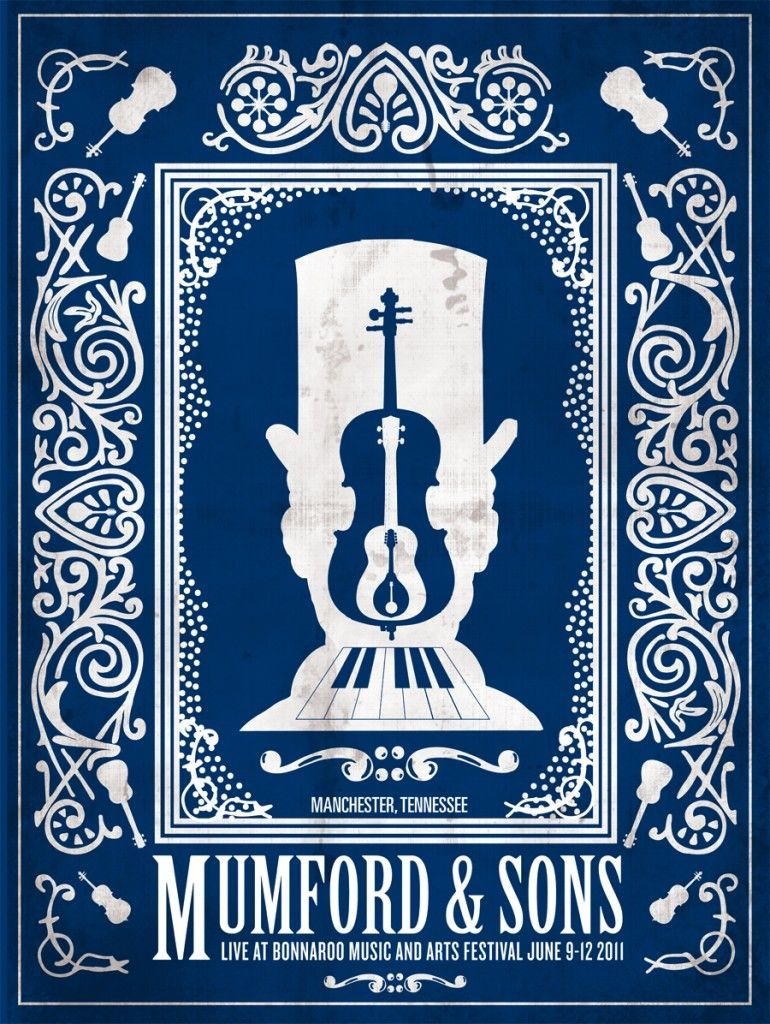 Reminds me of the sun prints that were popular when we were kids.  - Mumford & Sons Concert Poster