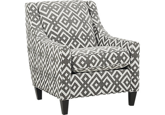 Cindy Crawford Home Chelsea Hills Gray Accent Chair Family Room