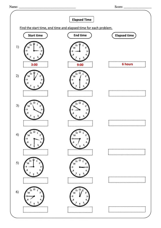 hight resolution of Elapsed Time Worksheets for 2nd Grade   Printable Shelter   Time worksheets