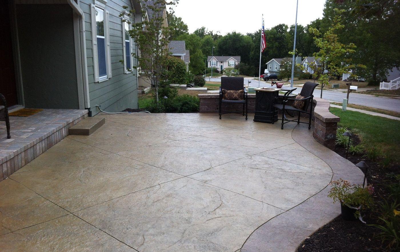 simple decorative concrete patio