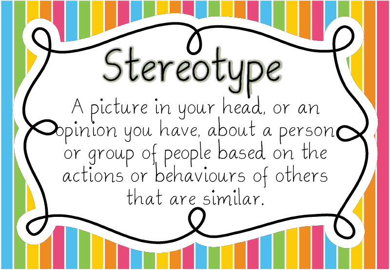 Definition of stereotype. For those of you who judge and assume and stereotype before knowing an individual.  http://dictionary.reference.com/browse/stereotype