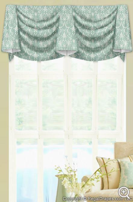 Kingston Valance + Lacey Serenity Fabric