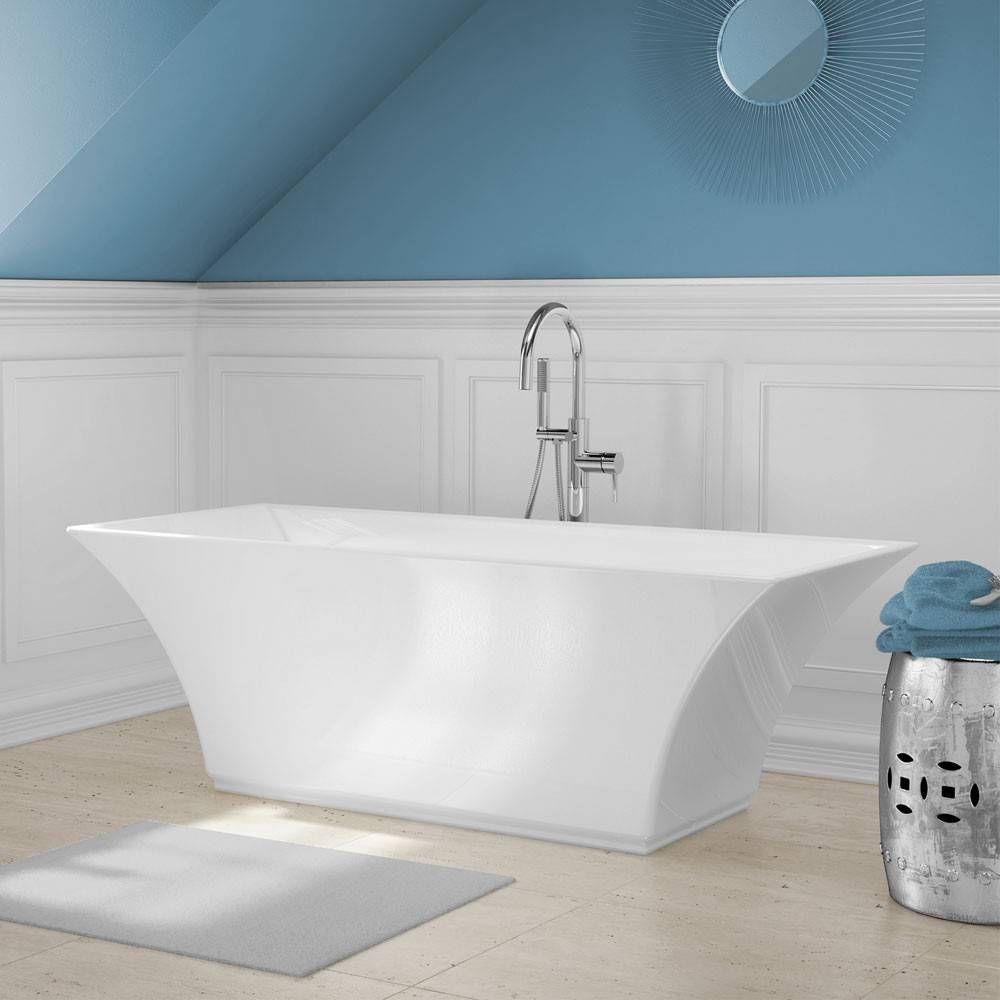 A&E Bath and Shower Abzu Acrylic 67 Inch Rectangular Freestanding ...