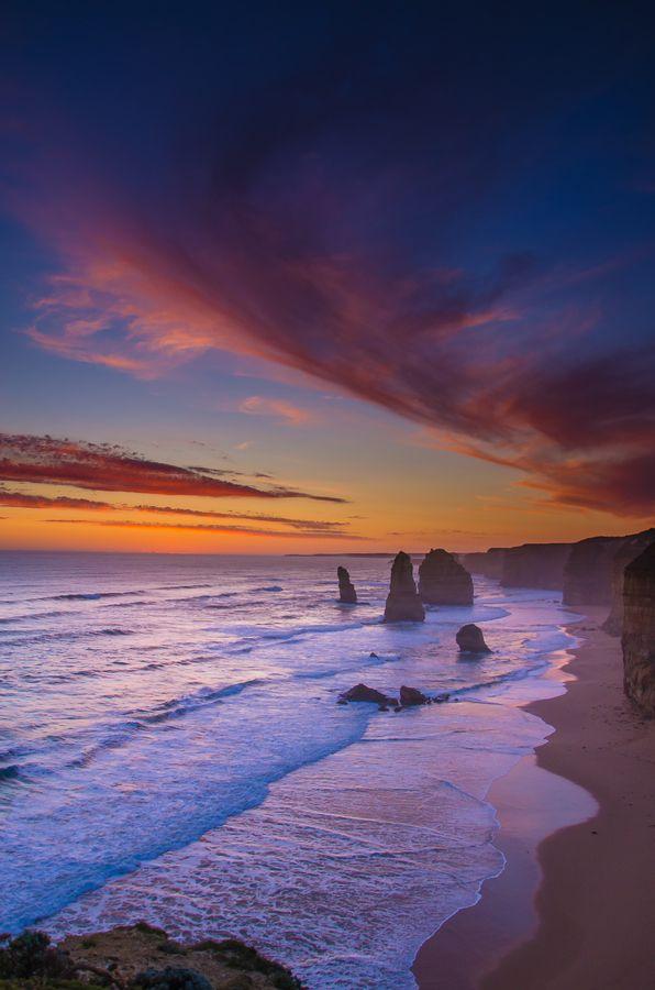 The Twelve Apostles Rainbow Sunset, Australia