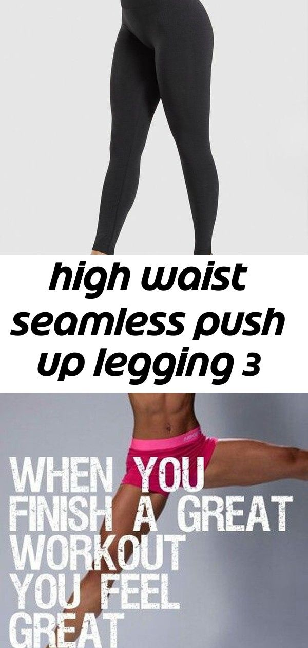 High waist seamless push up legging 3