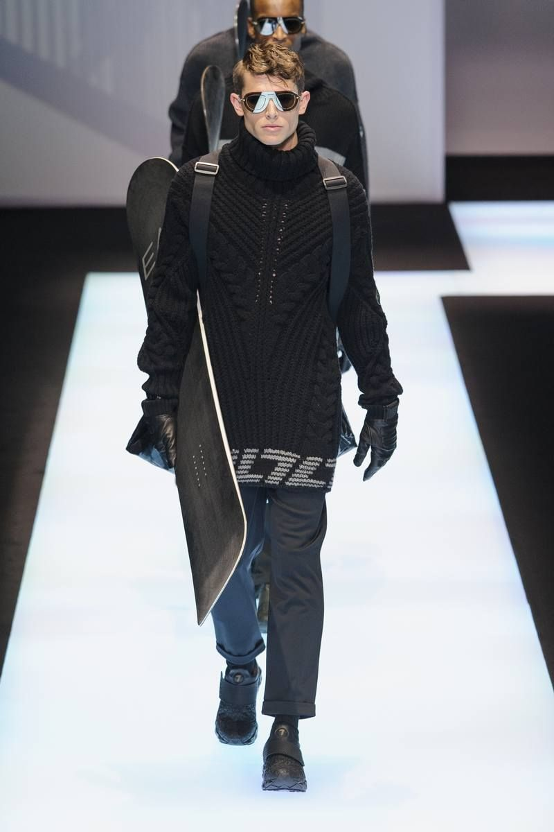 Male Fashion Trends: Emporio Armani Fall-Winter 2017 - Milan Fashion Week