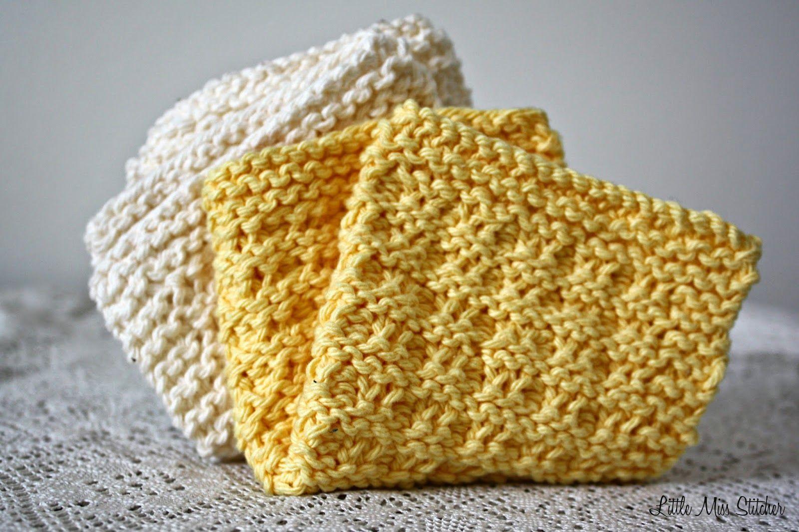 Little Miss Stitcher: 5 Free Knit Dishcloth Patterns | Pretty ...