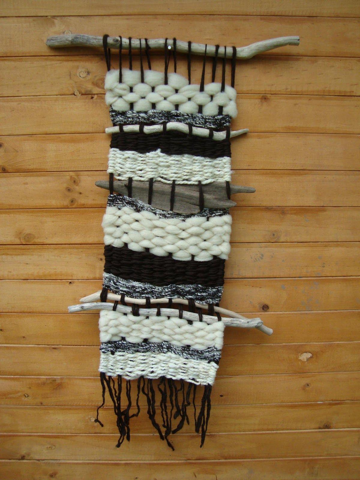 Telares Murales Decorativos Black N White Loom Weaving