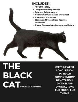 Edgar Allan Poe S The Black Cat Week Long Lesson Ela Ideas For