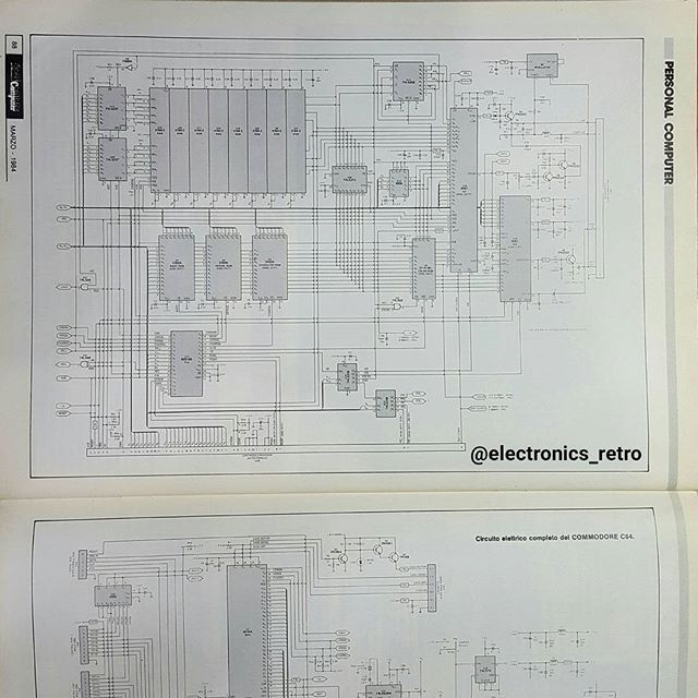 A little gift for enthusiasts commodore 64 😆 SCHEMATIC 1