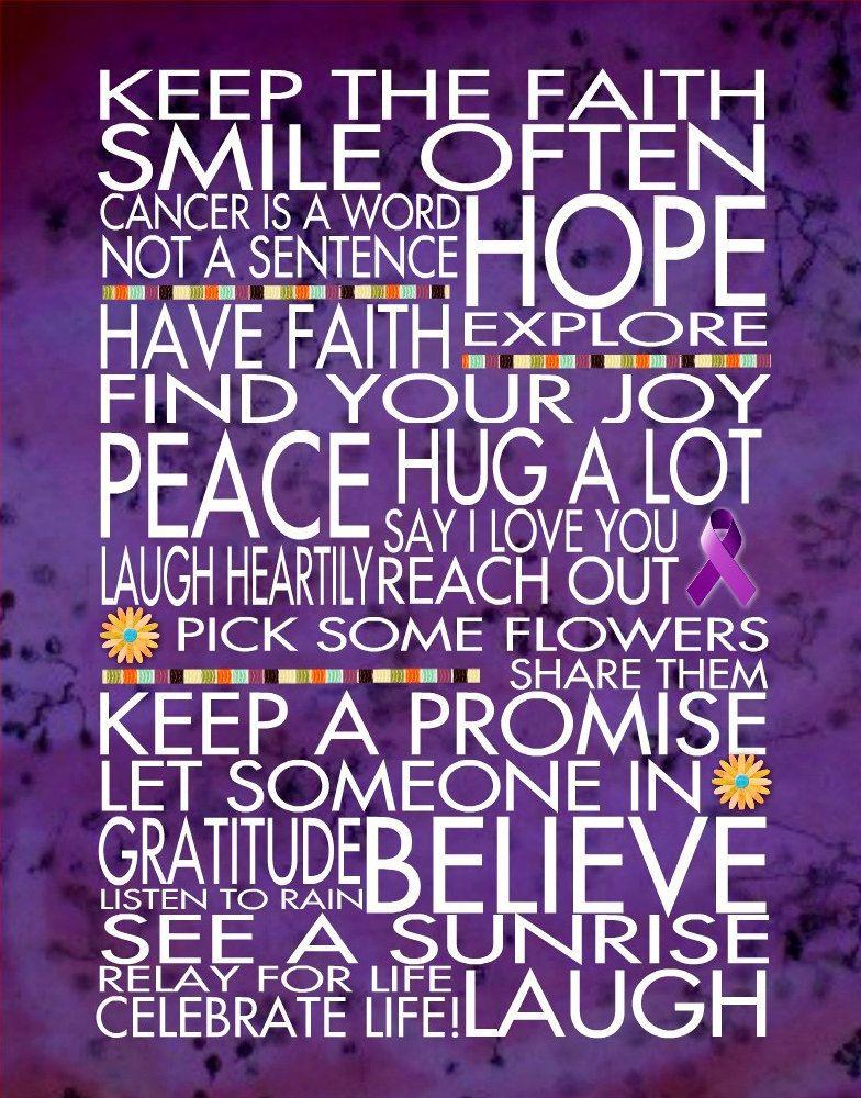 Keep the Faith Relay for Life 11x14 WORD ART by catalyst54