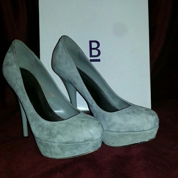 d1114e6dd9 Bakers Victoria Grey Pumps Suede Super sexy high heel platform pump! Love  these heels hate to see them go. Dont fit due to pregnancy. Bakers Shoes  Heels
