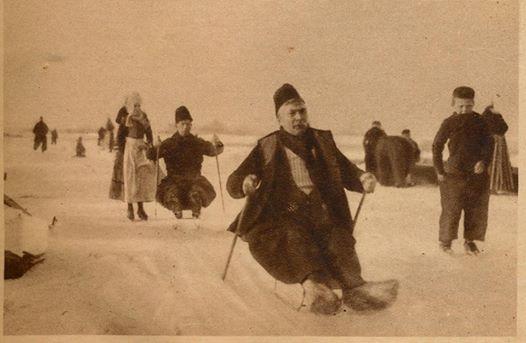 Priksleeën op de Gouwzee. 1924