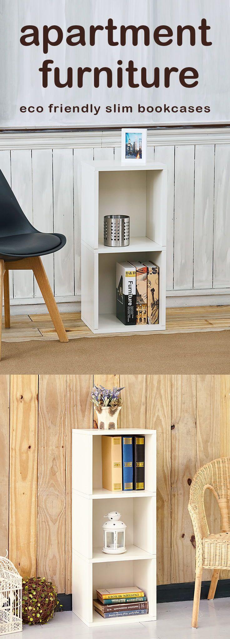 Stylish E Saving Apartment Furniture Cubbies Cubes Rectangle Shoe Closet Shelfie Bookcases Ecofriendly Slim Narrow