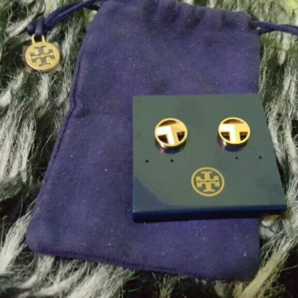 Tory Burch pair of earrings Nice TB earrings in gold and white. .. Tory Burch Accessories