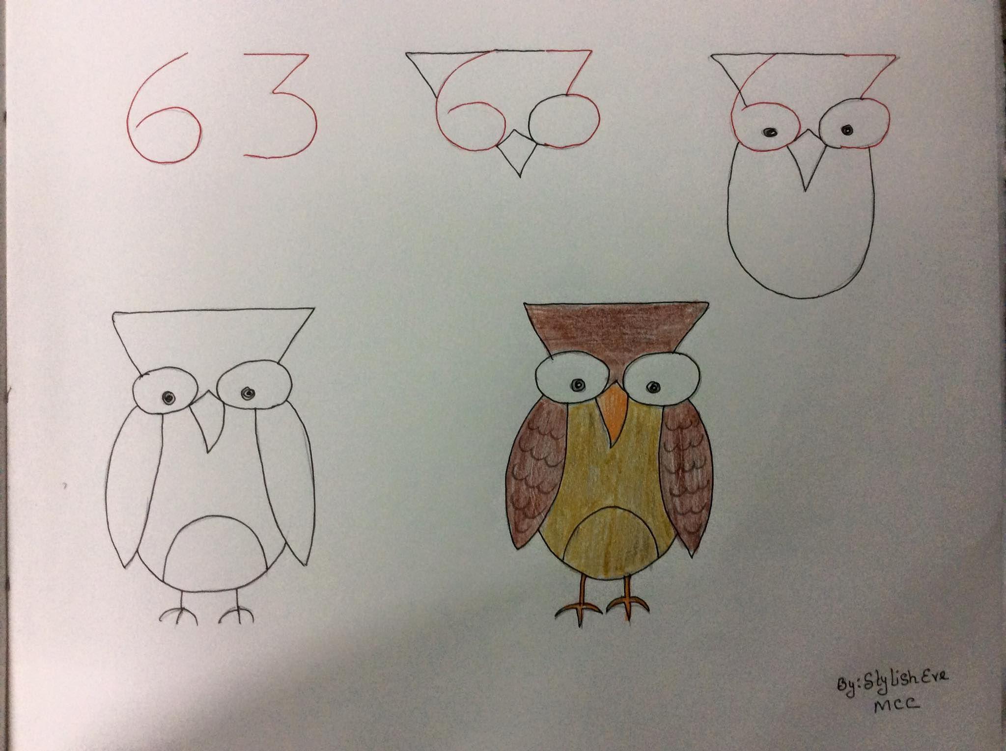Enseña a los más peques a dibujar a partir de números y letras (con  imágenes) | Aprender a dibujar animales, Dibujos de animales