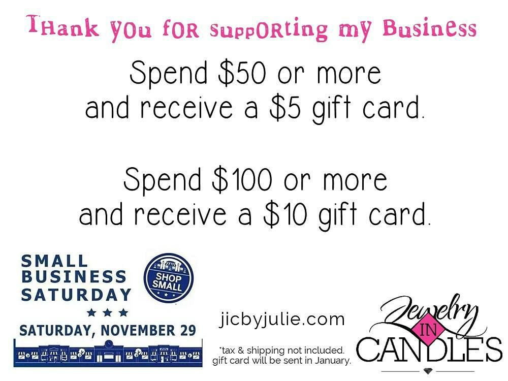 it s small business saturday as a thank you to my customers every