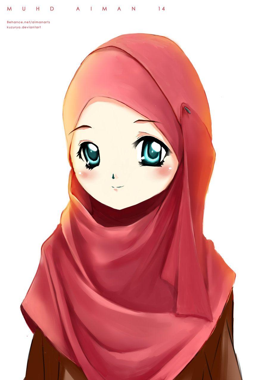 Random muslimah 6 by kuzuryo deviantart com on deviantart cartoon sketches cartoon