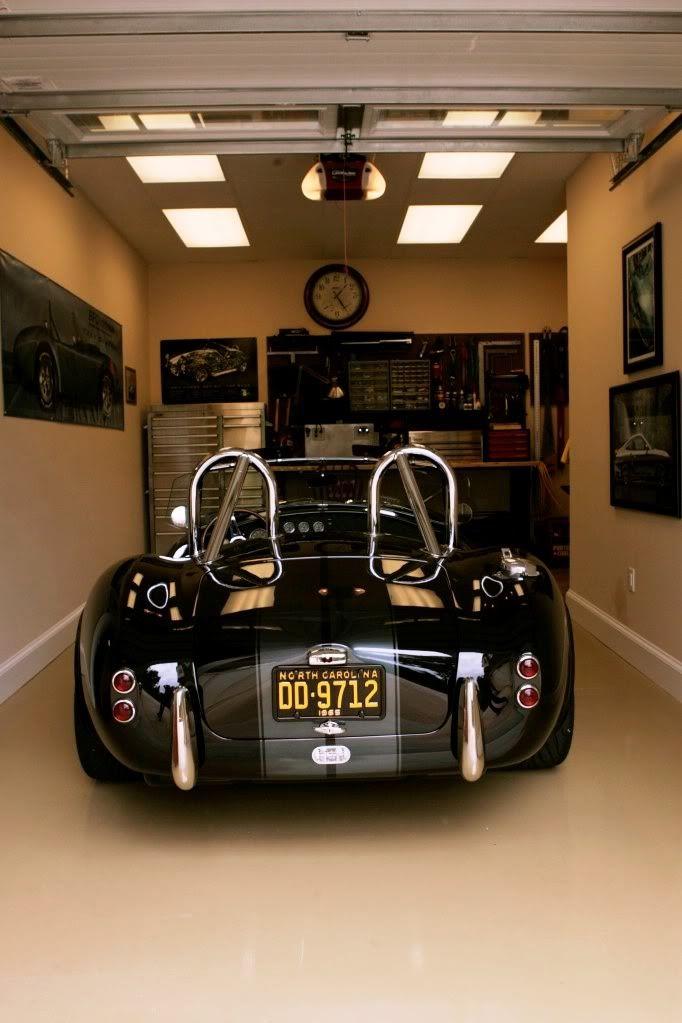 Garage Splendid Classic Cars Parked In Modern One Car Garage