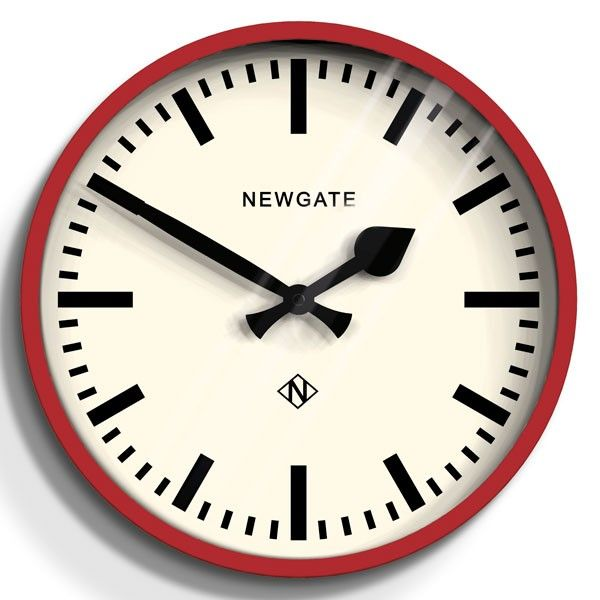 Newgate The Luggage Wall Clock Red Modern Station