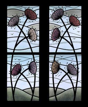 Agapanthus Seed Head Windows