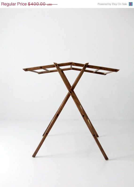 Antique Drying Rack Wood Laundry Stand