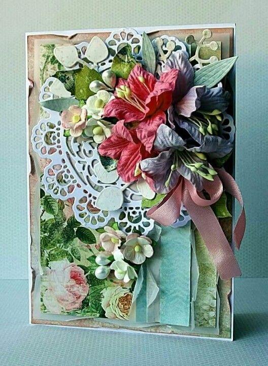 pinВера Коптев on cards 10  flowers   cards