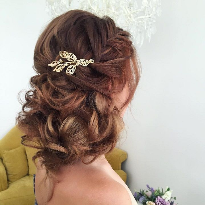 Beautiful loose updo hairstyle for stylish brides | wedding updo hairstyles #weddinghair #hairstyle #updohair