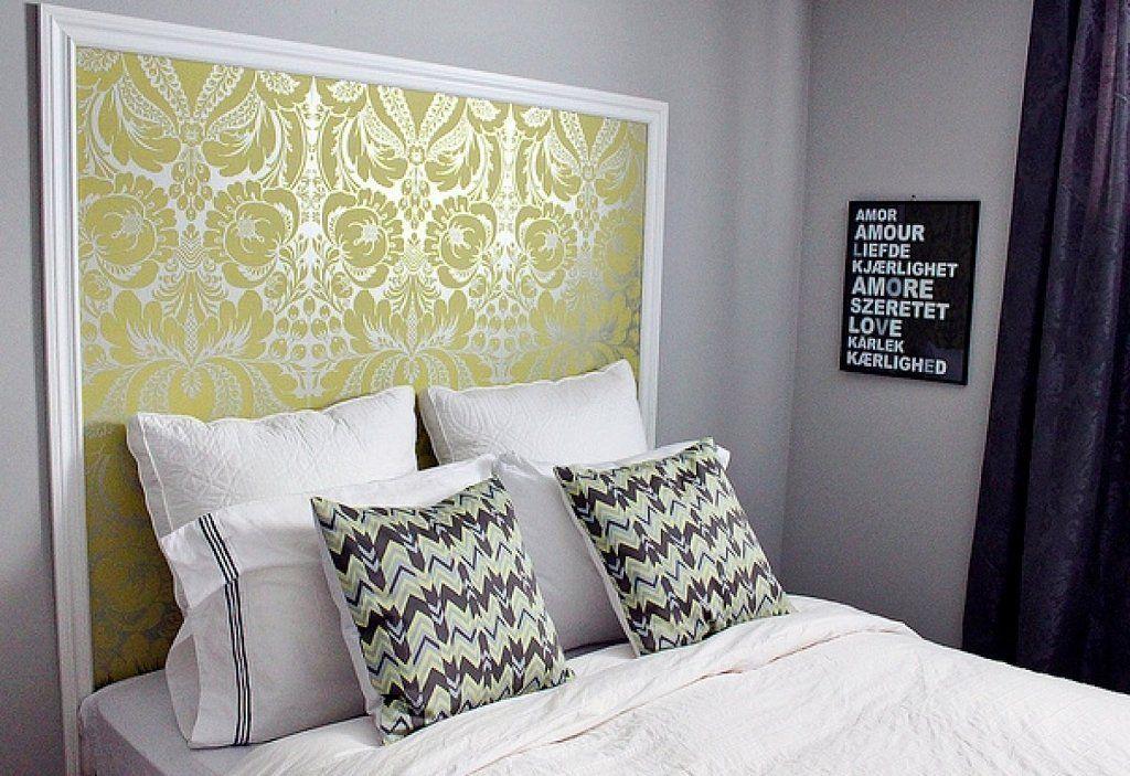 5 ideas creativas para decorar muebles con papel pintado - Forrar cabecero de cama ...