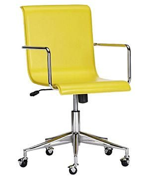 Surf Office Chair By Cb2 Yellow Office Chair Office Chair