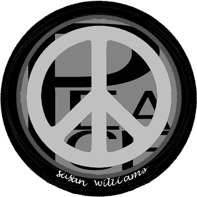 """Make a clear """"peace"""" statement with this  art pendant from Susan Williams Art pendants  collection"""