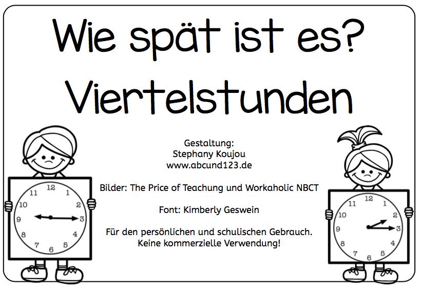 Wie spät ist es? [Viertelstunden] - | Mathematik | Pinterest ...