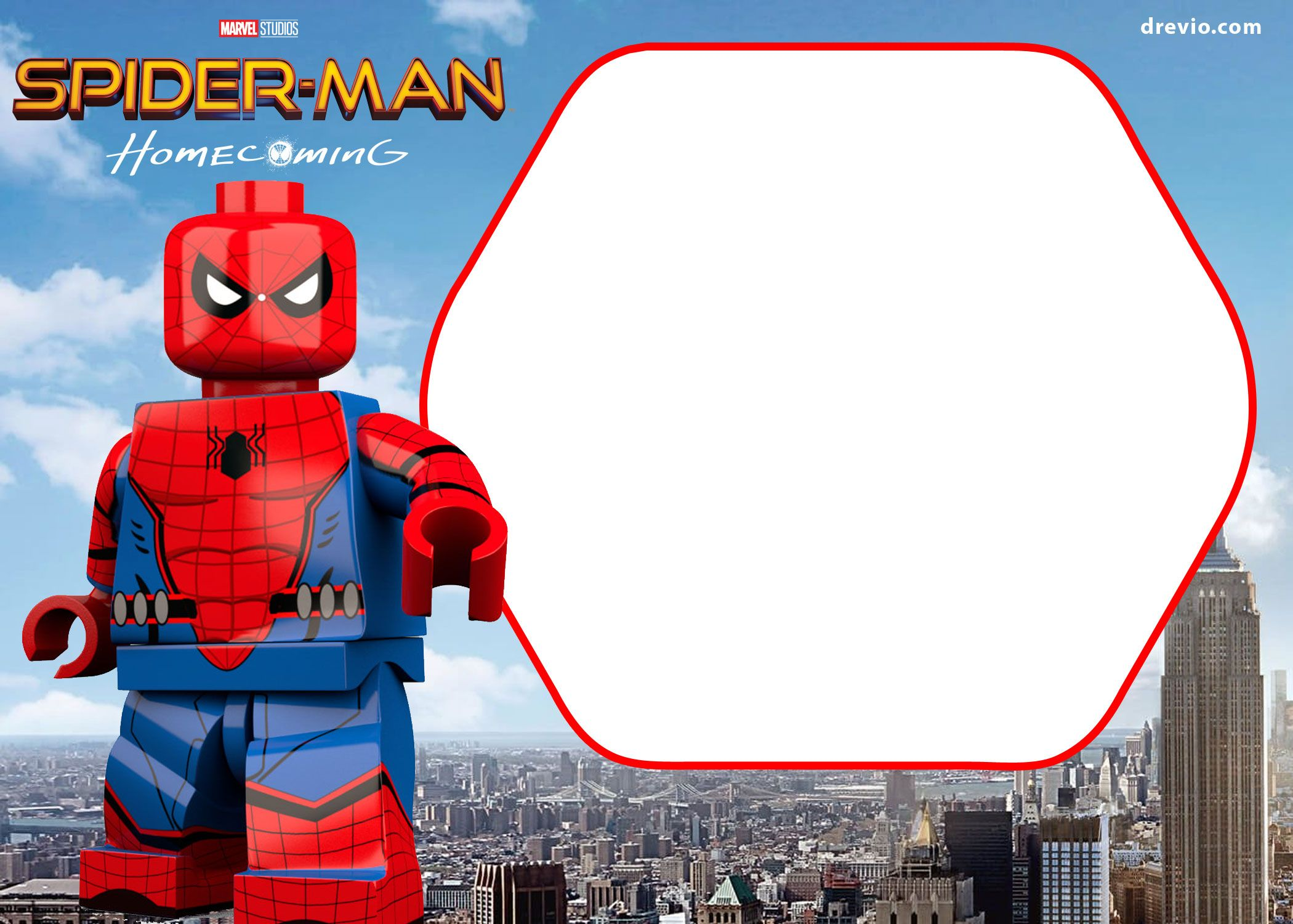 Awesome FREE Spiderman Home ing Invitation Template