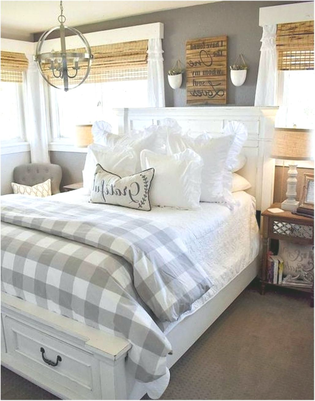 70 Gorgeous Farmhouse Master Bedroom Ideas In 2020 With Images