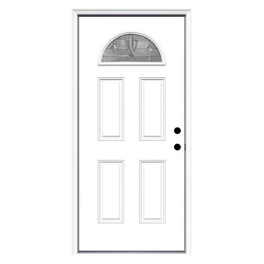 Jeld Wen Laurel 36 In X 80 In Fiberglass 1 4 Lite Left Hand Inswing Primed Prehung Single Door Brickmould Included Lowes Com Entry Doors Reliabilt Glass Decor 3068 rh halfview texas star w/ yellow zinc hinges. jeld wen laurel 36 in x 80 in