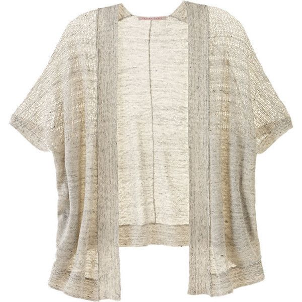 Victoria's Secret Short-sleeve Cardigan ($44) ❤ liked on Polyvore ...