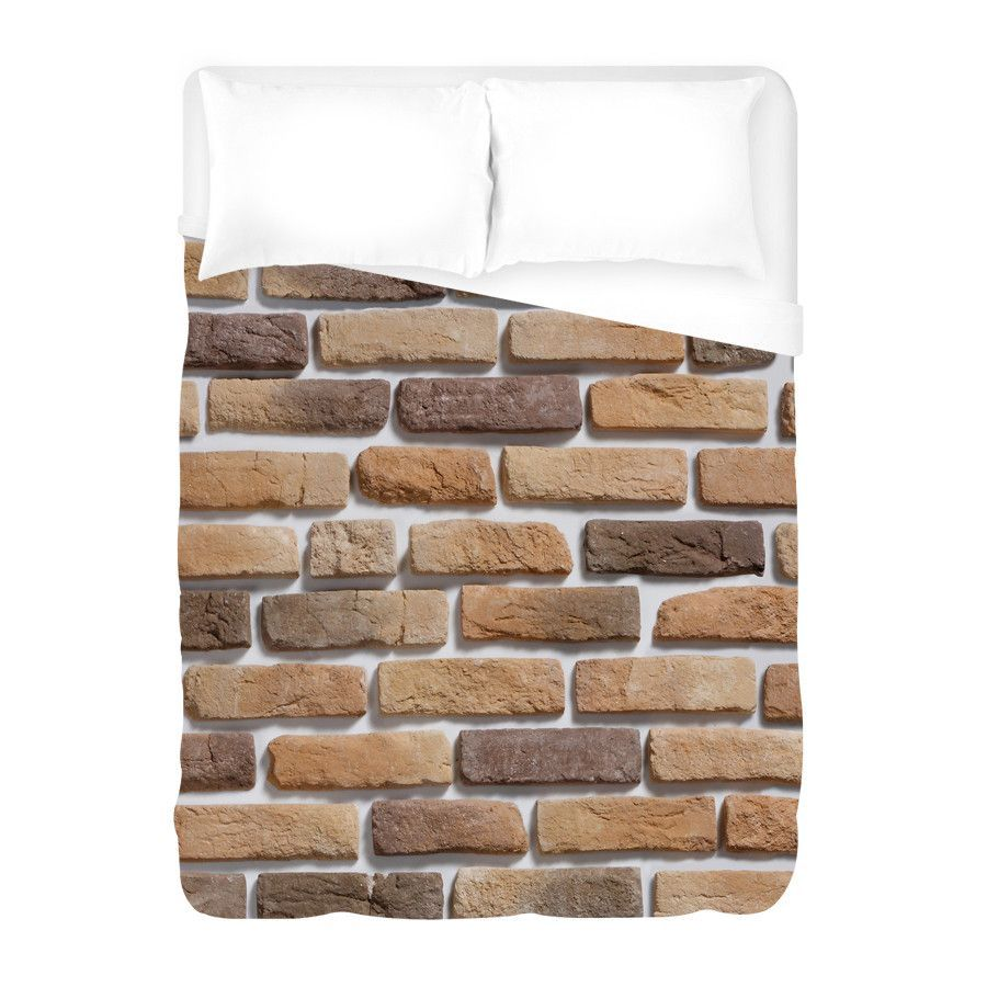 Coffee Brick Pattern Duvet Cover